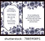 vintage delicate invitation...   Shutterstock .eps vector #788590891