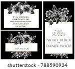 vintage delicate invitation... | Shutterstock .eps vector #788590924