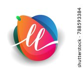 letter ll logo with colorful... | Shutterstock .eps vector #788593384