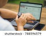 close up of businessman wearing ... | Shutterstock . vector #788596579