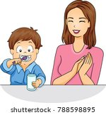 illustration of a mom clapping...   Shutterstock .eps vector #788598895