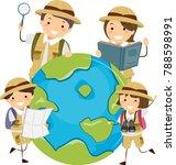 illustration of stickman family ... | Shutterstock .eps vector #788598991