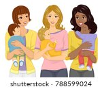 illustration of a mom carrying... | Shutterstock .eps vector #788599024