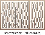 set decorative card for cutting.... | Shutterstock .eps vector #788600305