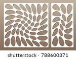 set decorative card for cutting....   Shutterstock .eps vector #788600371