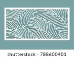 decorative card for cutting.... | Shutterstock .eps vector #788600401