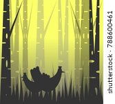 silhouette wild chickens in the ... | Shutterstock .eps vector #788600461