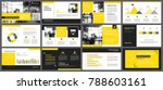 yellow presentation templates... | Shutterstock .eps vector #788603161
