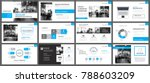 blue presentation templates and ...