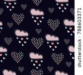 seamless hand drawn pattern... | Shutterstock .eps vector #788603371