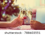 christmas and happy new year... | Shutterstock . vector #788603551