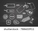 vector illustration of sale... | Shutterstock .eps vector #788603911