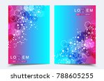 scientific brochure design... | Shutterstock .eps vector #788605255