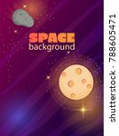 cartoon colorful space... | Shutterstock .eps vector #788605471