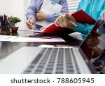 images of the two businessmen...   Shutterstock . vector #788605945