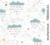 cute seamless pattern with... | Shutterstock .eps vector #788606161