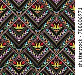 colorful ethnic style tribal... | Shutterstock .eps vector #788606971