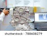 hands of technician use 3d scan ...   Shutterstock . vector #788608279
