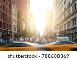 fast paced motion in new york... | Shutterstock . vector #788608369