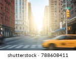 new york city street scene with ... | Shutterstock . vector #788608411