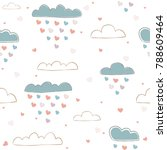 cute seamless pattern with... | Shutterstock .eps vector #788609464