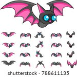 animated bat creature for... | Shutterstock .eps vector #788611135