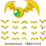 animated bat creature for... | Shutterstock .eps vector #788611141