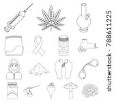drug addiction and attributes...   Shutterstock .eps vector #788611225