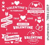 valentine template banner... | Shutterstock .eps vector #788611819