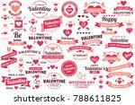 valentine template banner... | Shutterstock .eps vector #788611825