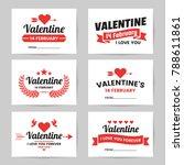 valentine template banner... | Shutterstock .eps vector #788611861