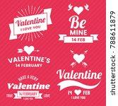 valentine template banner... | Shutterstock .eps vector #788611879