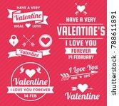 valentine template banner... | Shutterstock .eps vector #788611891