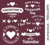 valentine template banner...   Shutterstock .eps vector #788611894