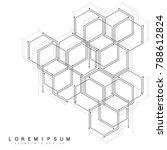 hexagonal geometric background. ... | Shutterstock .eps vector #788612824