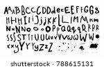 doodle simple primitive kids... | Shutterstock .eps vector #788615131