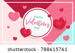 valentines day background with... | Shutterstock .eps vector #788615761