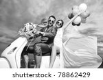 wedding sce of bride and groom... | Shutterstock . vector #78862429