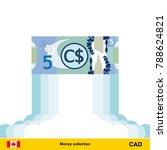 canadian dollar rising as a... | Shutterstock .eps vector #788624821