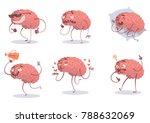 vector set of six cartoon... | Shutterstock .eps vector #788632069