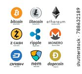 worldwide crypto currency... | Shutterstock . vector #788632189