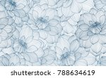 seamless pattern with hand... | Shutterstock .eps vector #788634619