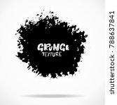 grunge ink round brush strokes. ... | Shutterstock .eps vector #788637841