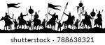 battle silhouette vector   Shutterstock .eps vector #788638321
