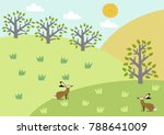 illustration of spring... | Shutterstock .eps vector #788641009