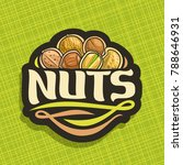 vector logo for nuts  cut sign... | Shutterstock .eps vector #788646931