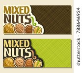 vector banners for nuts with... | Shutterstock .eps vector #788646934