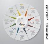 abstract 8 steps modern pie... | Shutterstock .eps vector #788653255