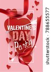 valentine's day party... | Shutterstock .eps vector #788655577