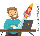 caucasian white businessman... | Shutterstock .eps vector #788656021
